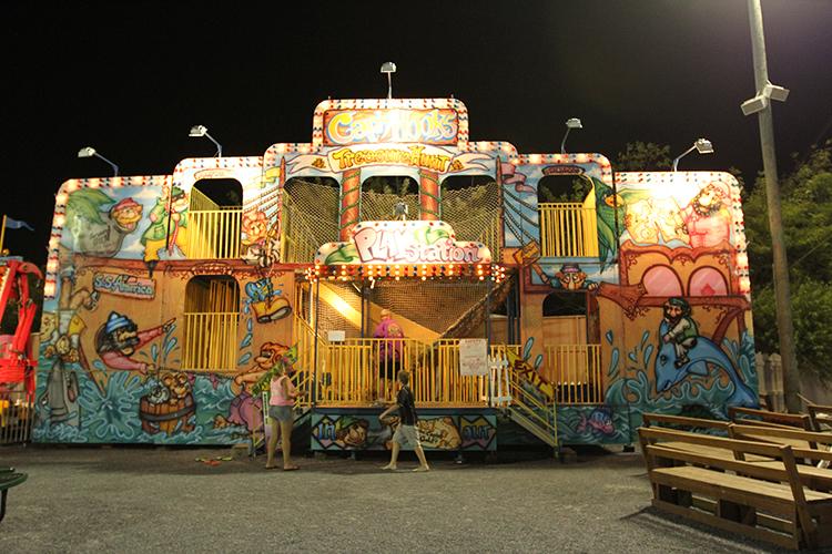 funhouse at night