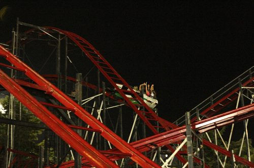 Wild cat roller coaster